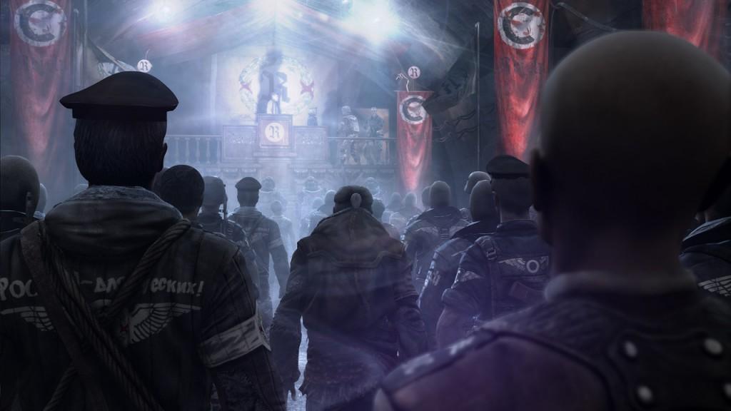Фюрер обращается к верным сынам Четвертого рейха.