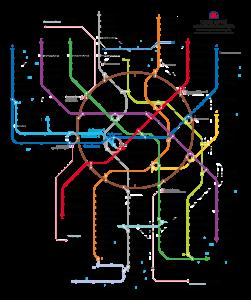 Новая официальная карта московского метро, созданная студией Артемия Лебедева. В игре мы её не увидим.