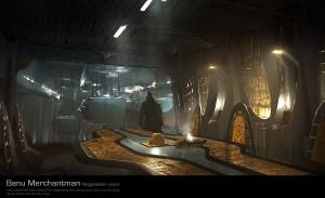 Комната для переговоров внутри корабля Banu Merchantman