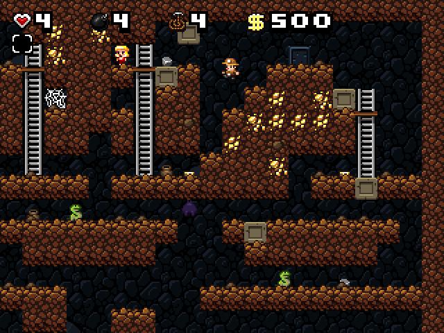 """Spelunky - один из немногих """"платформеров"""", в котором накопленные знания об игровом мире гораздо важнее прыти, сноровки и запоминания отдельных фрагментов уровня."""