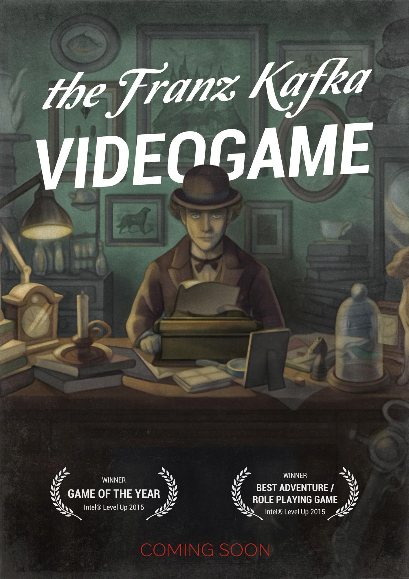 Обложка книги? Кинопостер? Нет, плакат The Franz Kafka Videogame. Финальный вариант.