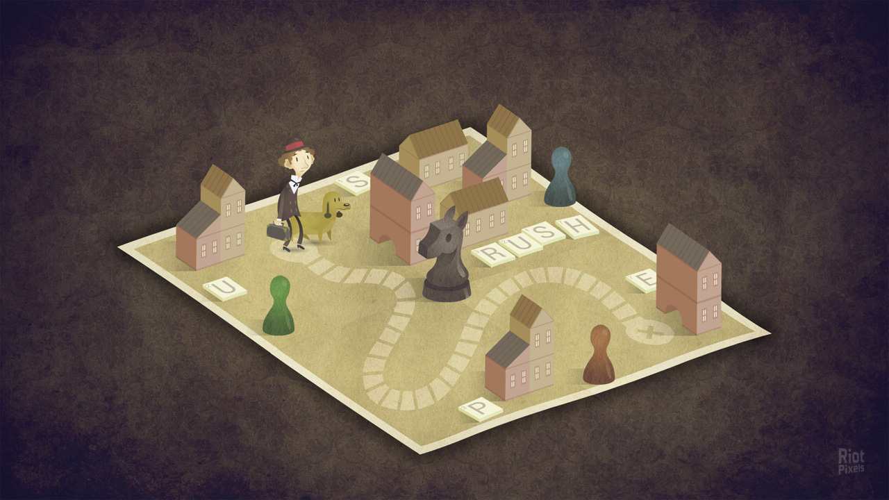 В 1 главе есть уровень в виде настольной игры. Важнейшие элементы «пазла» на данном скриншоте не показаны – чашка, машинка и др. Отмечу, что эпизод отлично подходит для сферического учебника по созданию игр, пункт «Как ломать четвертую стену».