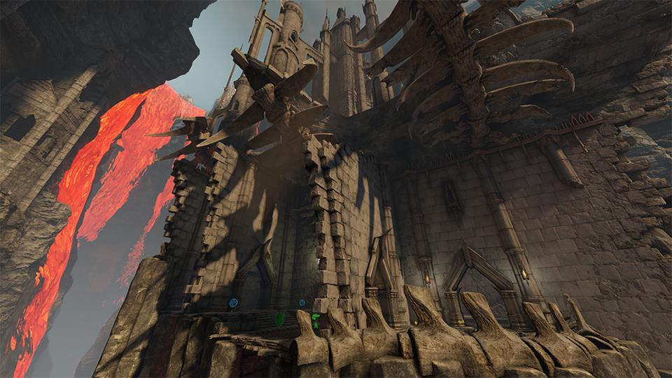 Quake Champions The Molten Falls map